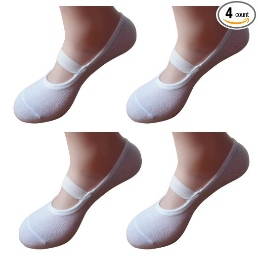 5e85409c7 Morewin Women s Ballet Style No Show Low Cut Hospital Slipper Socks. 1.  very comfortable 2. Add a nice pop of color under pants 3. Stand out strong  when ...